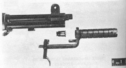 Early model M7 Grenade Launcher showing early vented lock screw